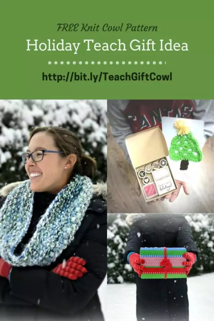 FREE Pattern Knit Cowl for Holiday Teacher Gift Idea