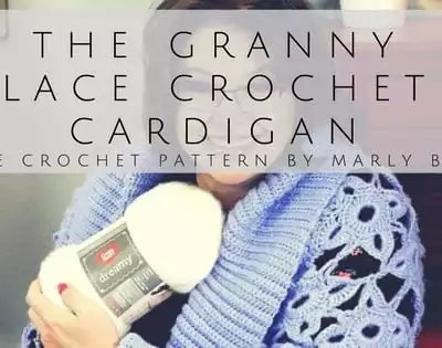 Free Crochet Pattern-The Granny Lace Crochet Cardigan