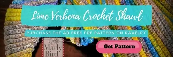 Lime Verbena Crochet Shawl Pattern by Marly Bird