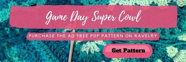 Game Day Super Cowl PDF Pattern by Marly Bird