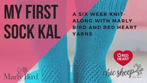 2018 My First Socks KAL with Marly Bird and Red Heart Yarn
