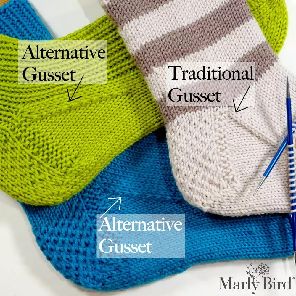 My First Knit Socks on Double Pointed Needles Part 4 of 6 - Marly Bird™