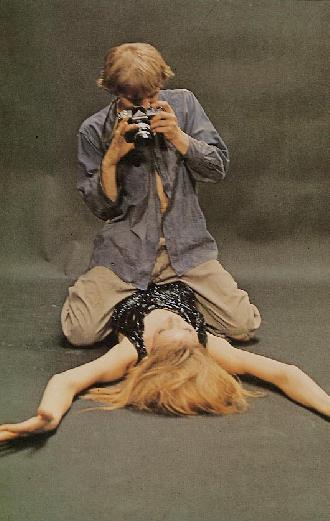 David Hemmings e Vanessa Redgrave em Blow-up