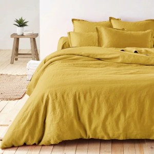 housse-couette-lin-jaune