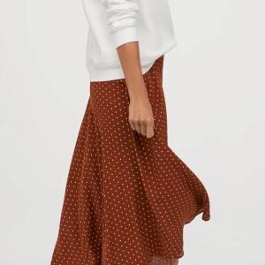 jupe longue rouille pois HM marmille 1 300x300 - Ma sélection shopping d'automne - couleur rouille & nature