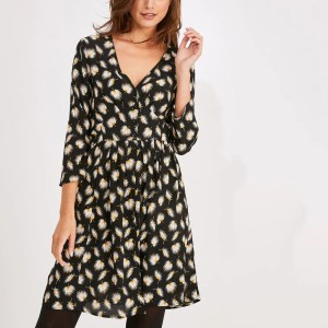 robe imprimee fleur promod marmille 300x300 - Ma sélection shopping d'automne - couleur rouille & nature