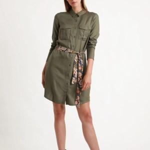 robe kaki pimkie marmille 300x300 - Ma sélection shopping d'automne - couleur rouille & nature