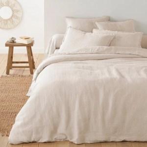 housse couette lin naturel qualite la redoute marmille 300x300 - Ma sélection shopping pour passer un automne doux et cocooning
