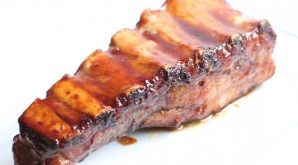 Travers de porc caramélisé chinois texas