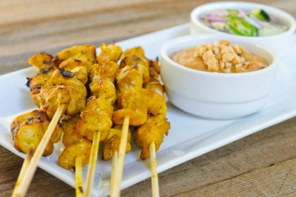 brochette de poulet au curry maison