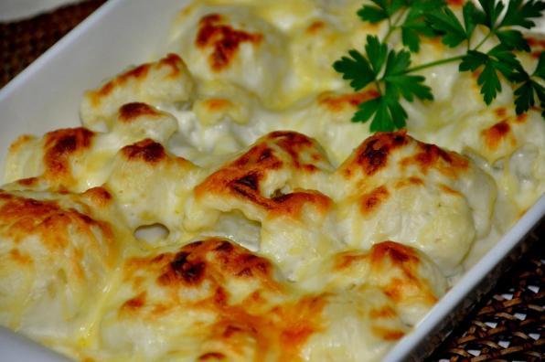gratin de chou fleur au parmesan recette