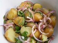 salade froide pommes de terre echalotes