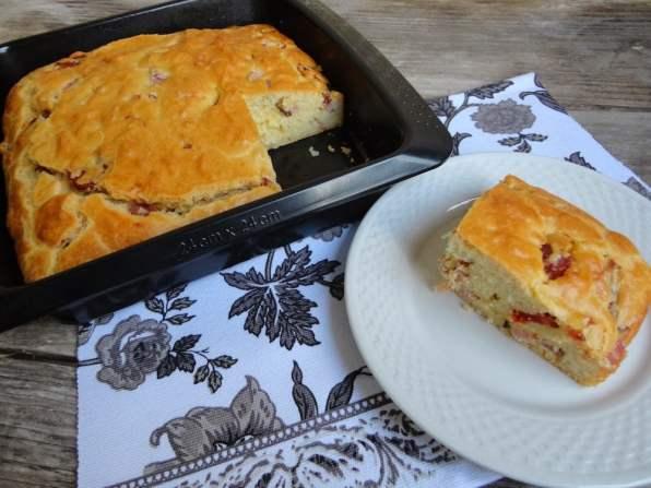 cake chorizo emmental recette original