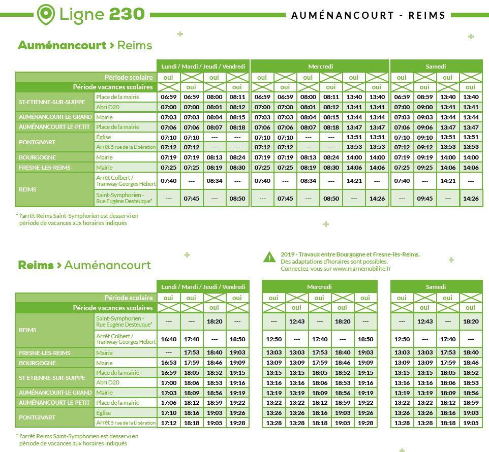 horaires des lignes 2019 2020 marne mobilite