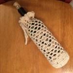 Crocheted Wine Bottle Cozy mbm