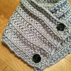 Dallas Grey Knitted Neck Warmer