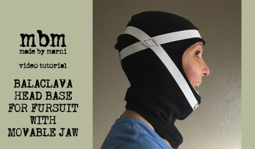 Make a movable jaw for your balaclava based fursuit head.