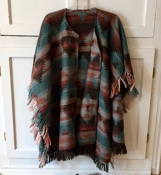 Aztec poncho made by marni