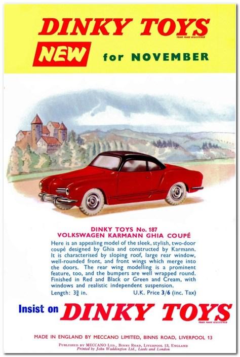 Meccano Magazine announcement November 1959