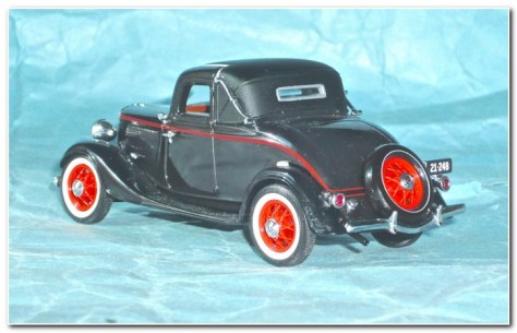 1933 Ford illustration 3 Classic Carlectibles rear