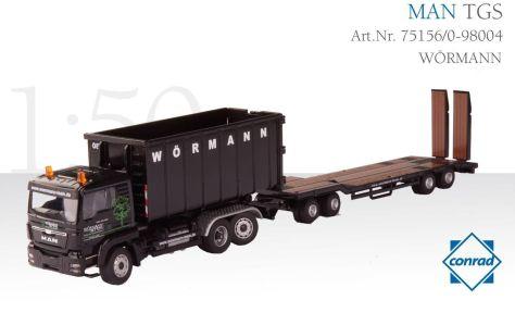 18707 Conrad 75156-98004 MAN TGS Abrollcontainer und Tieflader_WÖRMANN_web
