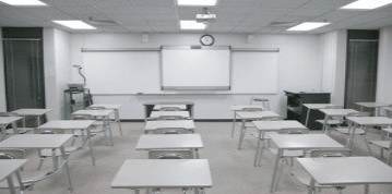 A classroom and learning environment.