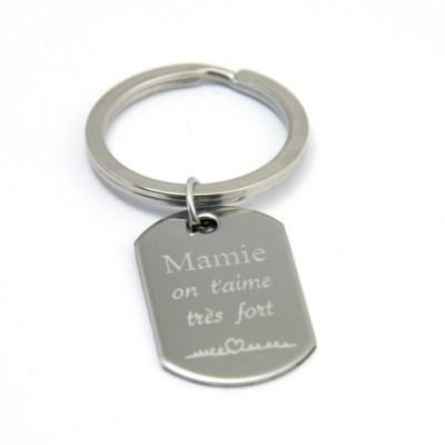 Porte-clés personnalisé pour Mamie