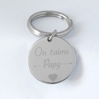 Porte clé «on t'aime papy»