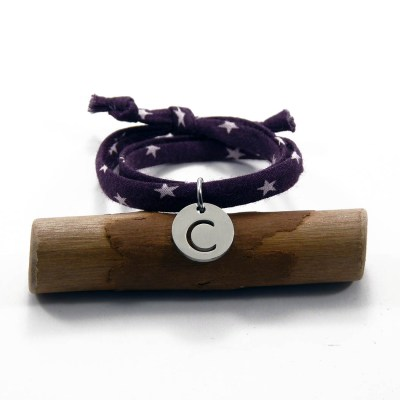 Bracelet enfant lettre initiale Chloé
