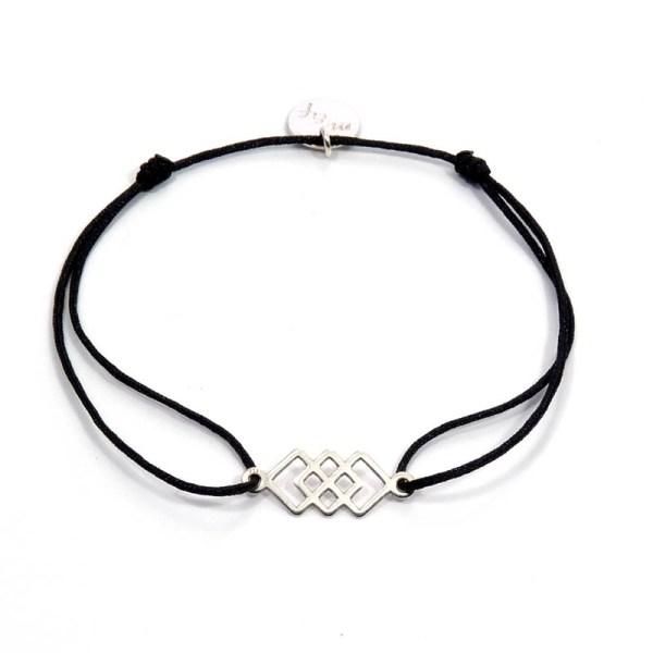 Bracelet géométrique coulissant en argent 925 pour femme.