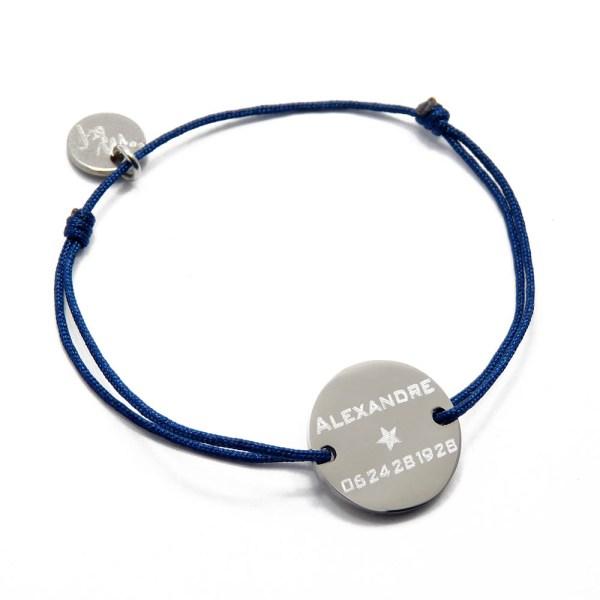 bracelet d'identification pour enfant en inox.
