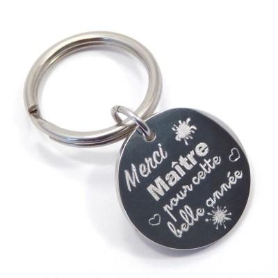 Porte clé «Merci Maître pour cette belle année»