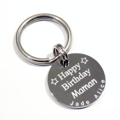 Porte clé personnalisé «Happy Birthday Maman»