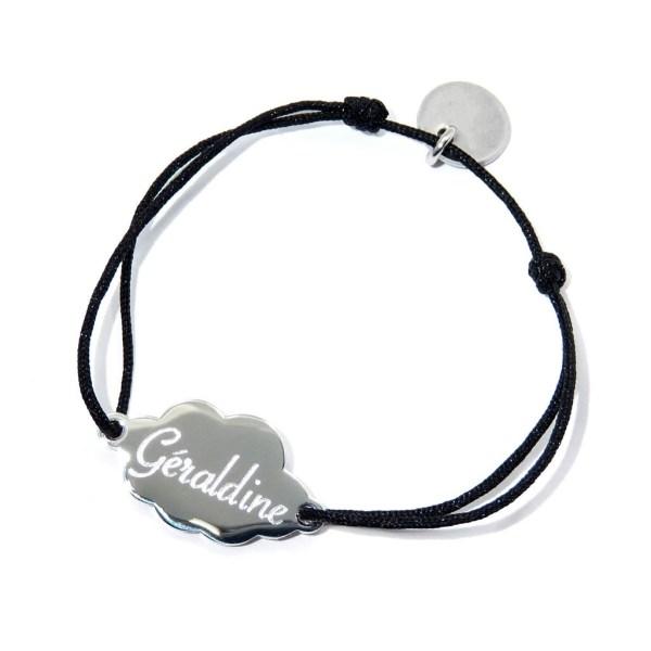 Bracelet nuage enfant personnalisé en acier inoxydable.