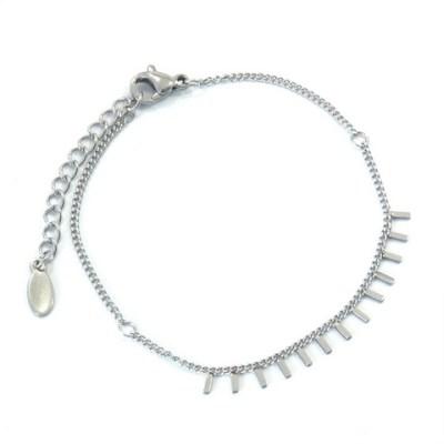 Bracelet rectangles en acier inoxydable