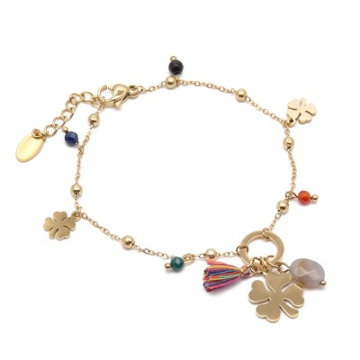 Bracelet trèfles multicolore