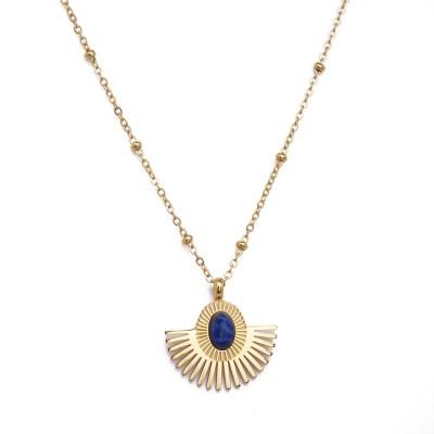Collier pendentif Aurore bleu