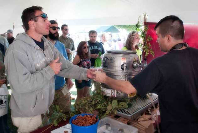 One of Marquette's own local breweries, The Vierling, serving it up at the 6th annual U.P. Beer Fest. (photo Ron Caspi)