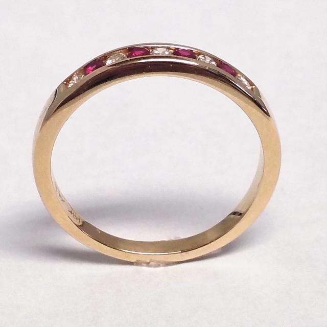 Ruby And Diamond Channel Set Band Marquis Jewelers