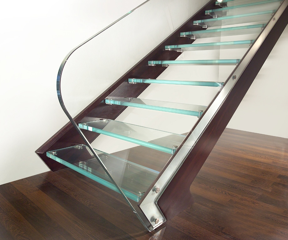 Staircase Wooden Band And Glass Steps By Marretti 100 Made In   Wooden Staircase With Glass   Oak   Glass Design Golden   Tempered Glass   Unusual Interior   Detail