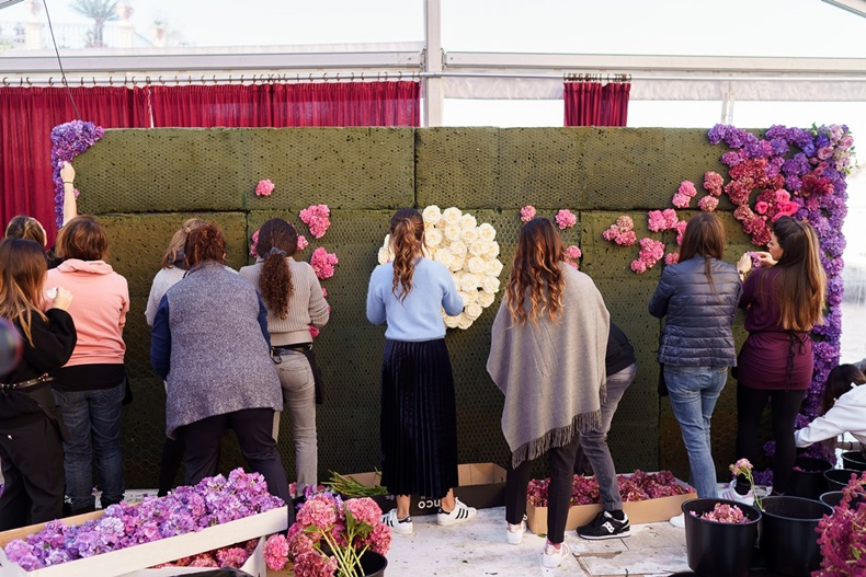 flowerwall in progress