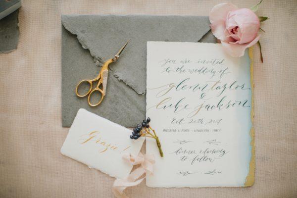 calligraphic invitation