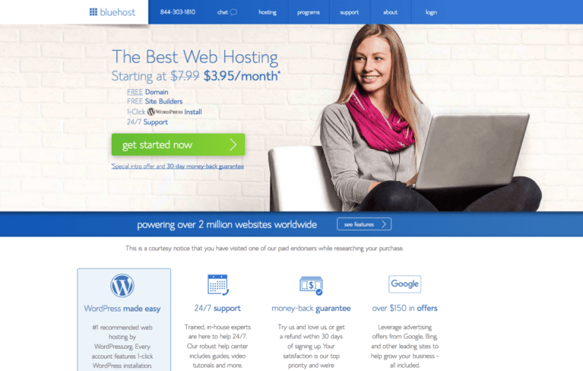 Bluehost Homepage - Marriage, Kids and Money