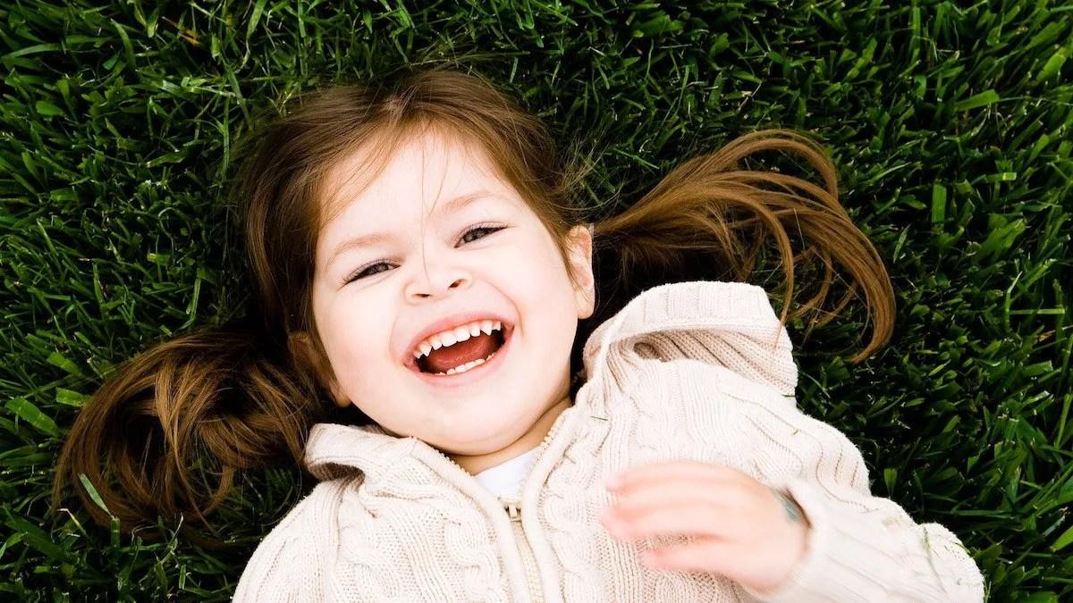 happy little girl smiling