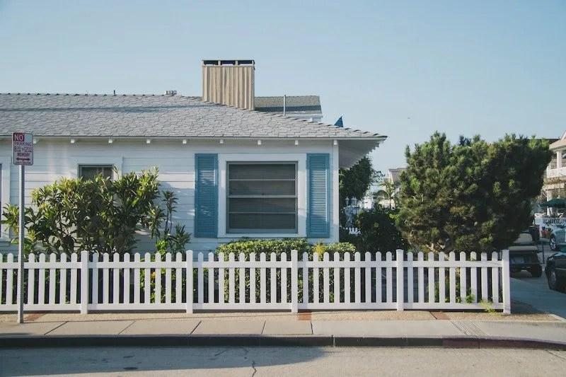 Rental Property blue shutters