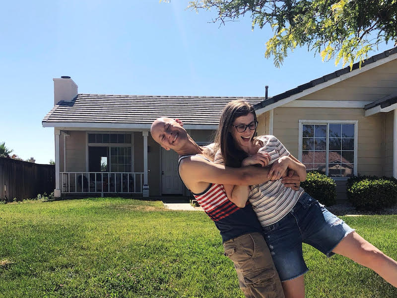 Keith Robinson and Rachael Robinson are mortgage free