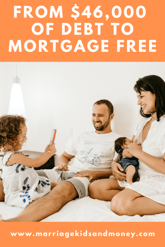 Young mortgage free family