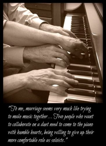How Marriage is like a Piano Duet
