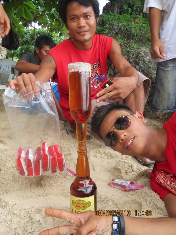 Mixing Drinks at Tingko Beach