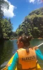 Kayaking in El Nido.